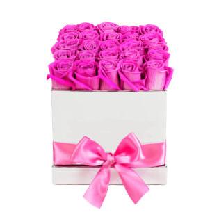 Цветы в коробке «Розы Pink Floyd»
