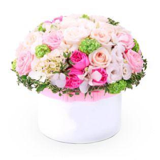 Цветы в коробке «Сердце ангела»