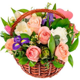 Корзина с цветами «Фантазия»
