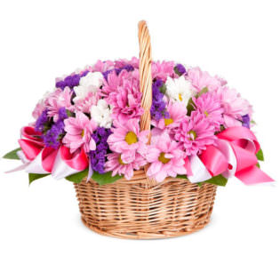 Корзина с цветами «Цветочная мозаика»