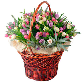 Цветы в корзинке «Королева»