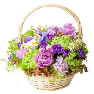 Цветы в корзинке «Летний сад»