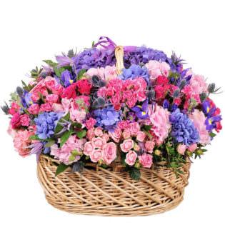 Цветы в корзинке «Сладкое пробуждение»